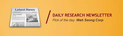 OSK Daily Research: Pick of The Day - Wah Seong Corp