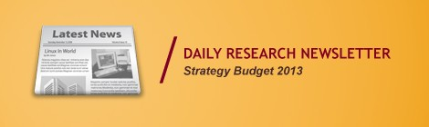 OSK188 Daily Research | Strategy Budget 2013