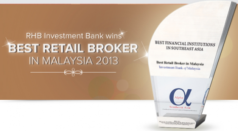 RHB Investment Bank wins Best Retail Broker in Malaysia 2013
