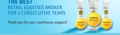 The best retail equities broker for 2 consecutive years. Thank you for your continuous support!